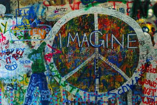 I am Peace like Lennon Wall Peace Image In Prague