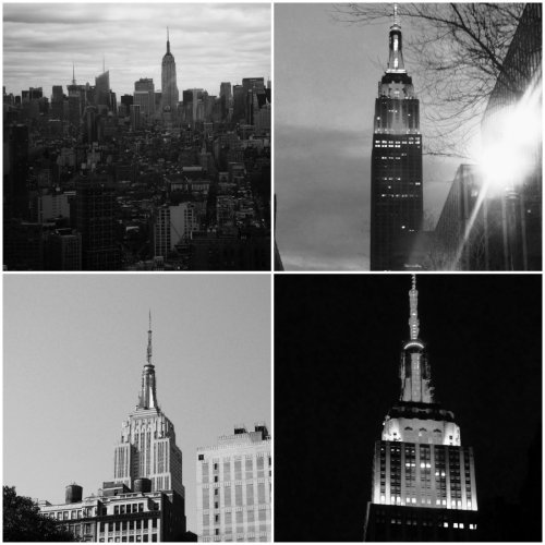 EMPIRE STATE BUILDING IN BW COLLAGE