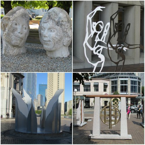 OBJECTS  Of Artistic expression & devotion  - Four sculptures in downtown Park in Boston