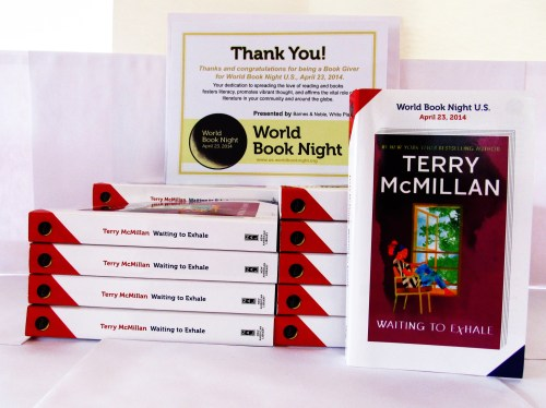 Inspiration: World Book Night 2014. Staff at My Sister's Place received 20 books