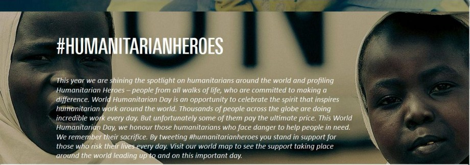Reflections: World Humanitarian Day, August 19th - Help Each Other