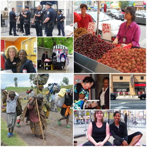 Weekly Photo Challenge collage: Humanity In All Shades and Shapes..