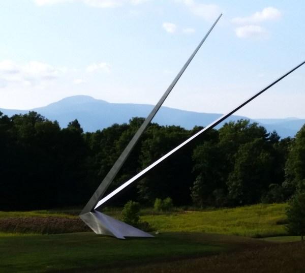 Weekly Photo Challenge: Angular - Wishbone outdoor sculpture/installation by Mark Handforth