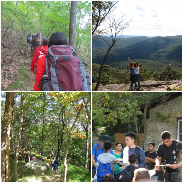 Weekly Photo Challenge: Achievement - Collage of the Bear Mountain Hike from start to finish w/ certificates handed out