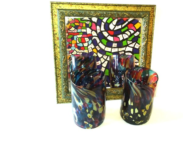 From Treasure To Triumph! - Double tumblers in a mirror
