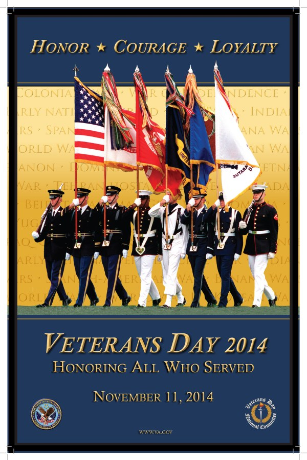 Veterans Day: Saluting All Who Served - 2014 Poster