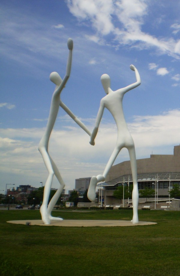 Weekly Photo Challenge: SCALE Henry Moore Sculpture - The Dancers in Denver, Co