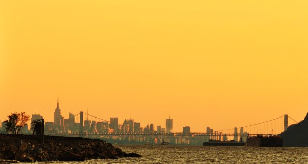 Weekly Photo Challenge: Ephemeral - NYC Skyline at Sunset from Hudson River