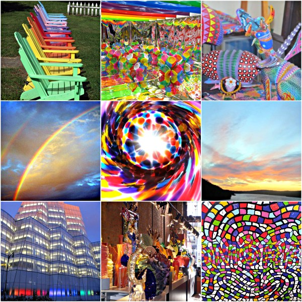 Weekly Photo Challenge: Rainbow Colors - A range of items in ROYVBIV