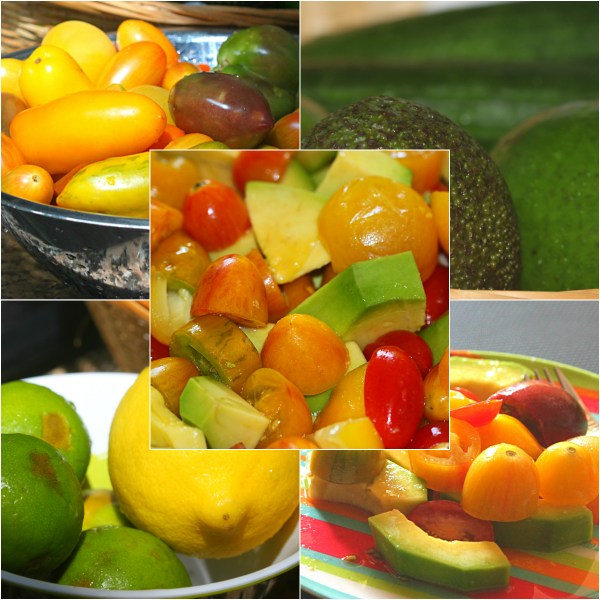 Food Files: Avocado & Heirloom Tomato Salad w/ Argan Oil & Basil Infused Olive Oil