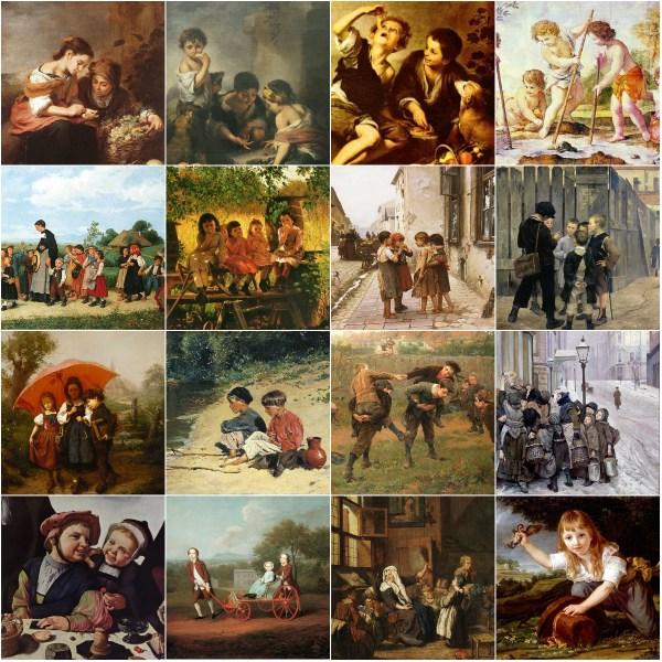 Haiku: When Childhood Ended - paintings of childhood