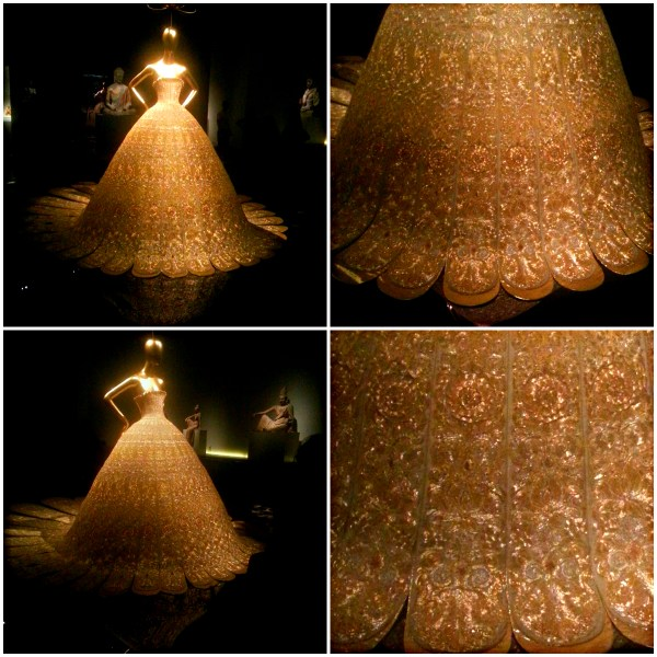 China: Through The Looking Glass - An Epic Exhibition - Met Museum - Collage of breathtaking Gold gown by Guo Pei