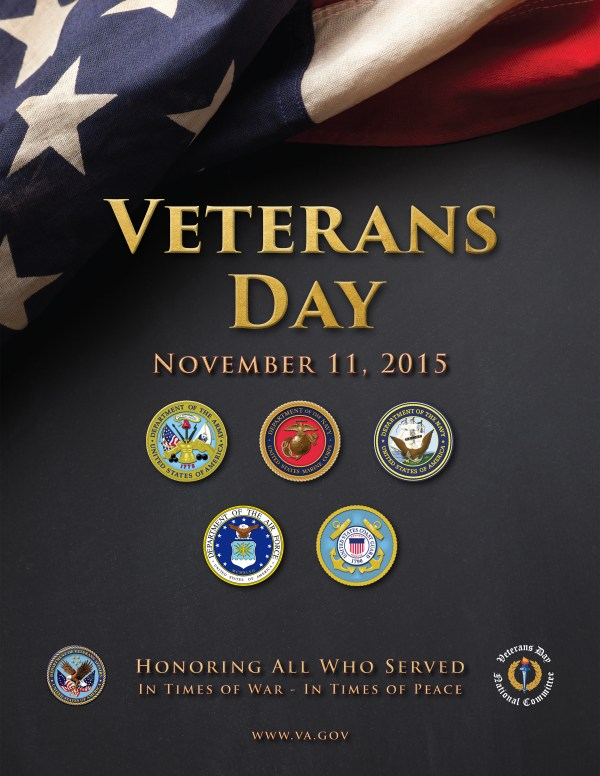 Motivation Mondays: Honoring All Veterans - 2015 Veterans Day Poster via Dept of Veteran's Affairs