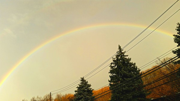 Weekly Photo Challenge: OPTIMISTIC - the delight of a rainbow arc