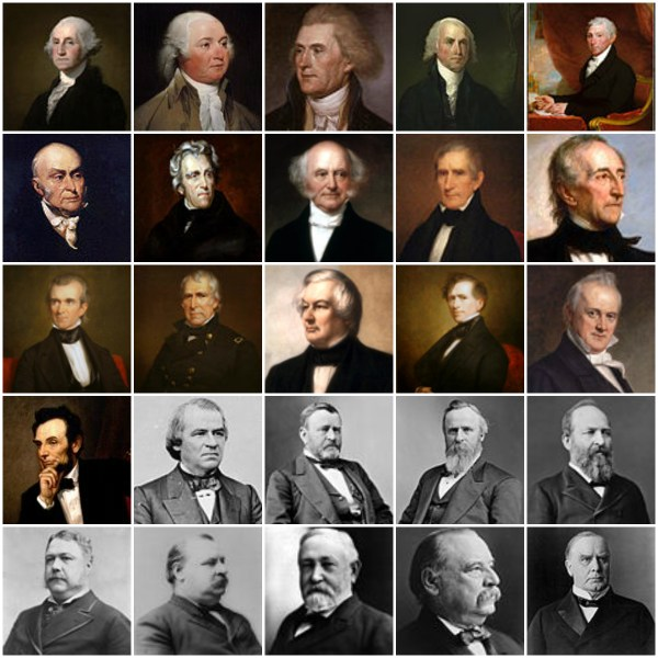 Motivation Mondays: Presidents' Day - First 25 USA Presidents Collage