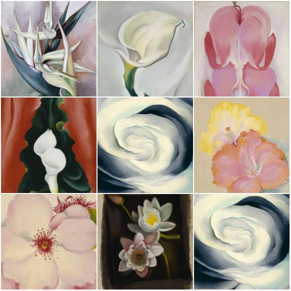 Weekly Photo Challenge: Life Imitates Art - These are some of O'Keeffe's Florals