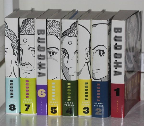 Weekly Photo Challenge: NUMBERS - Numbered set of books by Osamu Tezuka; Cartoonist, Manga expert extraordinaire