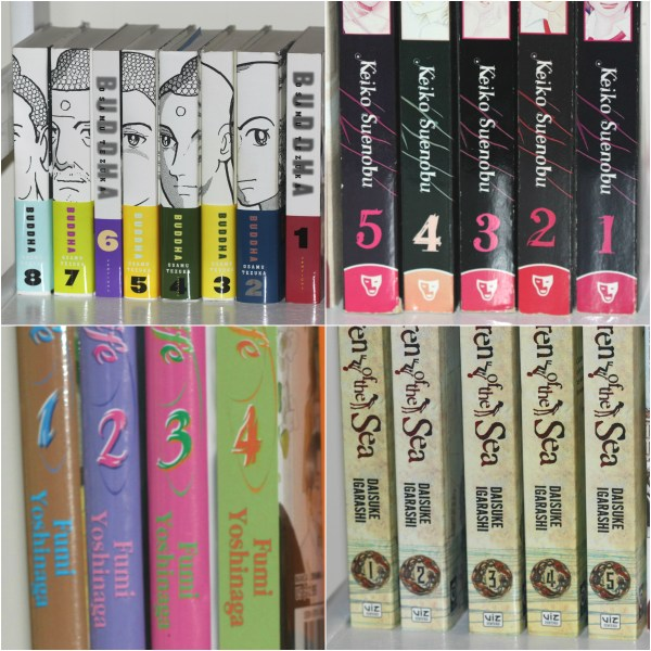 Weekly Photo Challenge: NUMBERS - Numbered Manga & Anime books