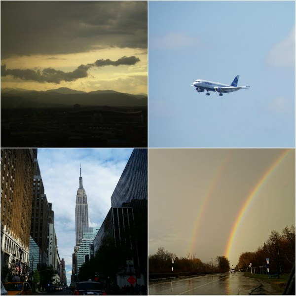 Weekly Photo Challenge: LOOK UP - at Buildings, Art & a Plane!