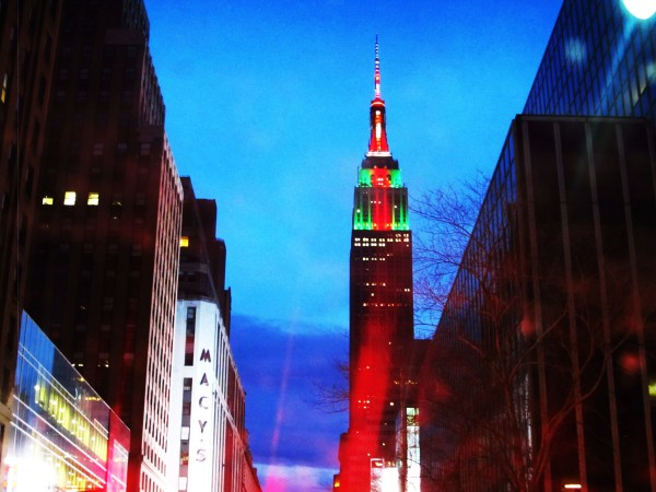 Weekly Photo Challenge: LOOK UP - at Empire State Building at night