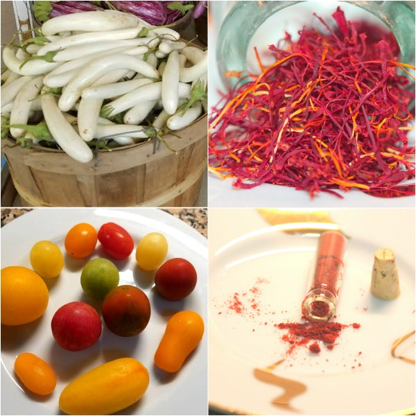 Weekly Photo Challenge: RARE - Saffron Spice, Heirloom Tomatoes, White Eggplant and more..