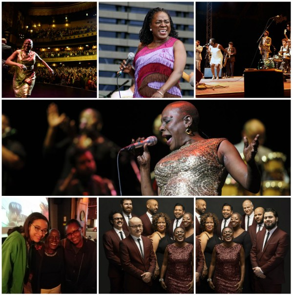 Miss Sharon Jones! – A Review - Collage of Sharon Jones and the Dap Kings performing at the Beacon Theater NY & Band Group shot. Credits: (Jacob Blickenstaff/Abramorama/Starz Digital) & my personal collection