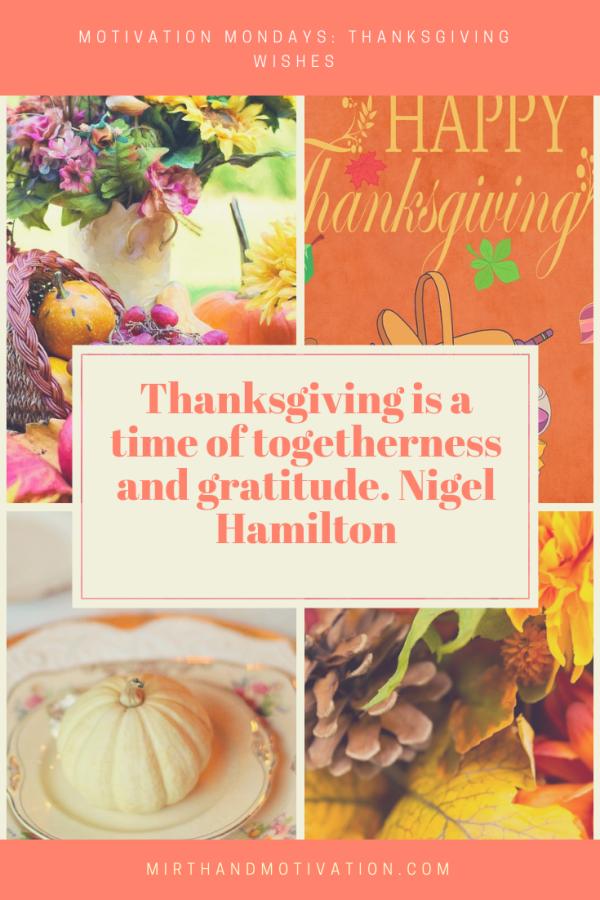 Motivation Mondays: Thanksgiving Wishes