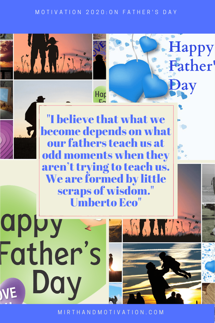 Motivation 2020: On Father's Day #FathersDay
