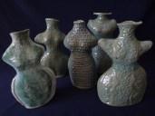Whimsical Torso Vases