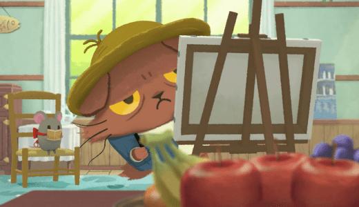 アニメ『猫のニャッホ』第7話ネタバレ感想!ニャッホ、食いしん坊のモネと一緒にデッサンをしていると…?