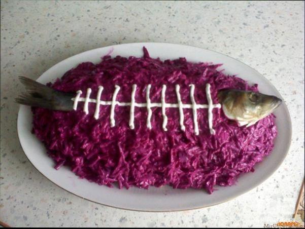 Оригинальное оформление салата