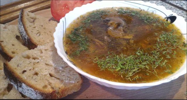 Суп зі свіжих грибів - простий покроковий рецепт