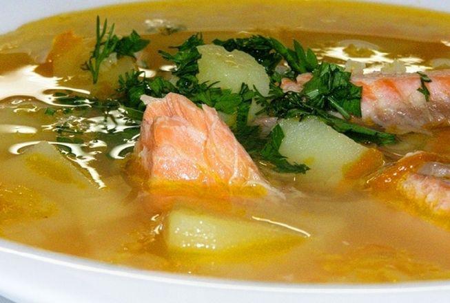 Рецепт приготовления вкусного супа из красной рыбы