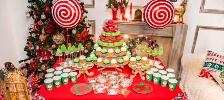 новогодний сладкий стол