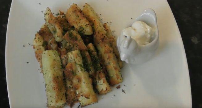 Кабачковые дольки - запеченные в духовке