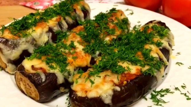 Способ готовки баклажанов с фаршем в духовке
