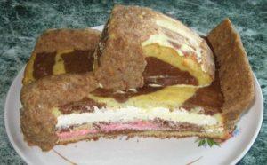 Мүсіндік модельдеу торт: бүйірлік көрінісі