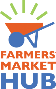 Farmers Market Hub wheelbarrow logo