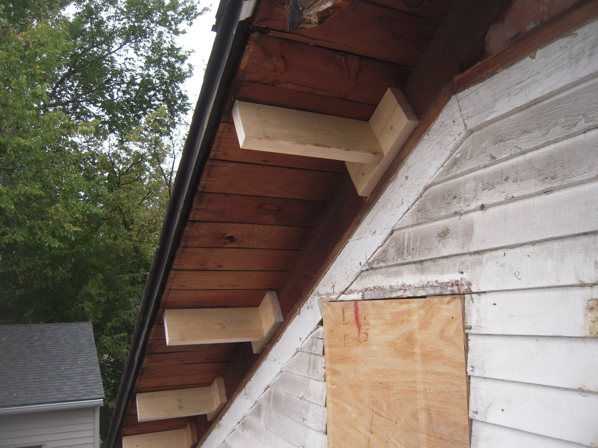 Exposed Ridge Beam Framing