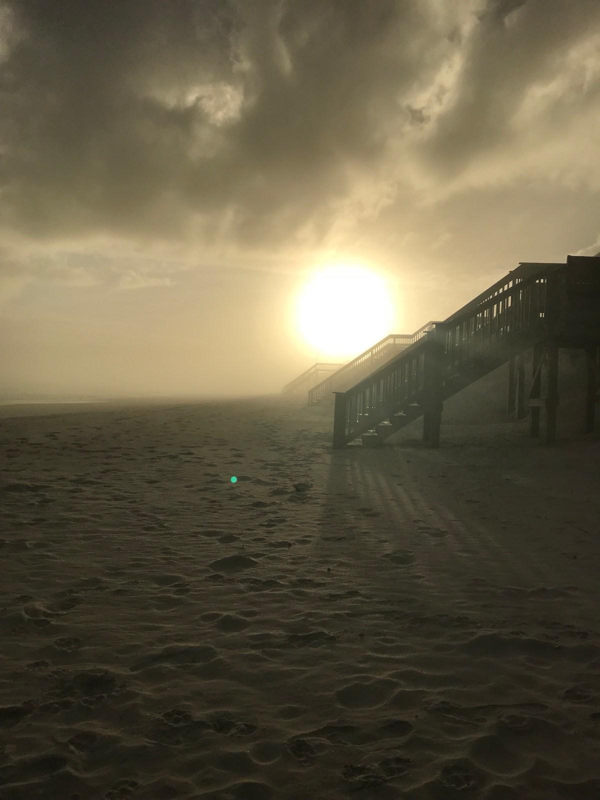 Foggy Sunset on Beautiful Topsail Island