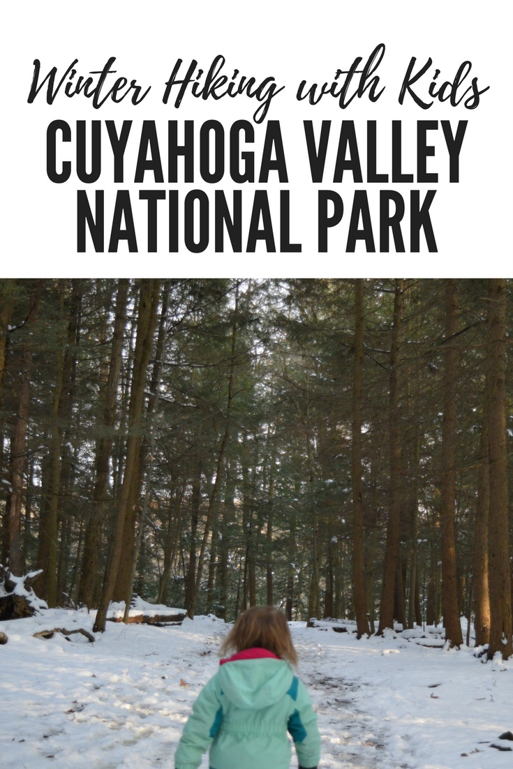 Cuyahoga Valley National Park in Winter is beautiful hiking spot for families!