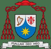 """Escudo cardenalicio: """"Cantaré a mi Dios"""""""