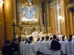 Solemnes Vísperas. Peregrinacion Populus Summorum Pontificum.