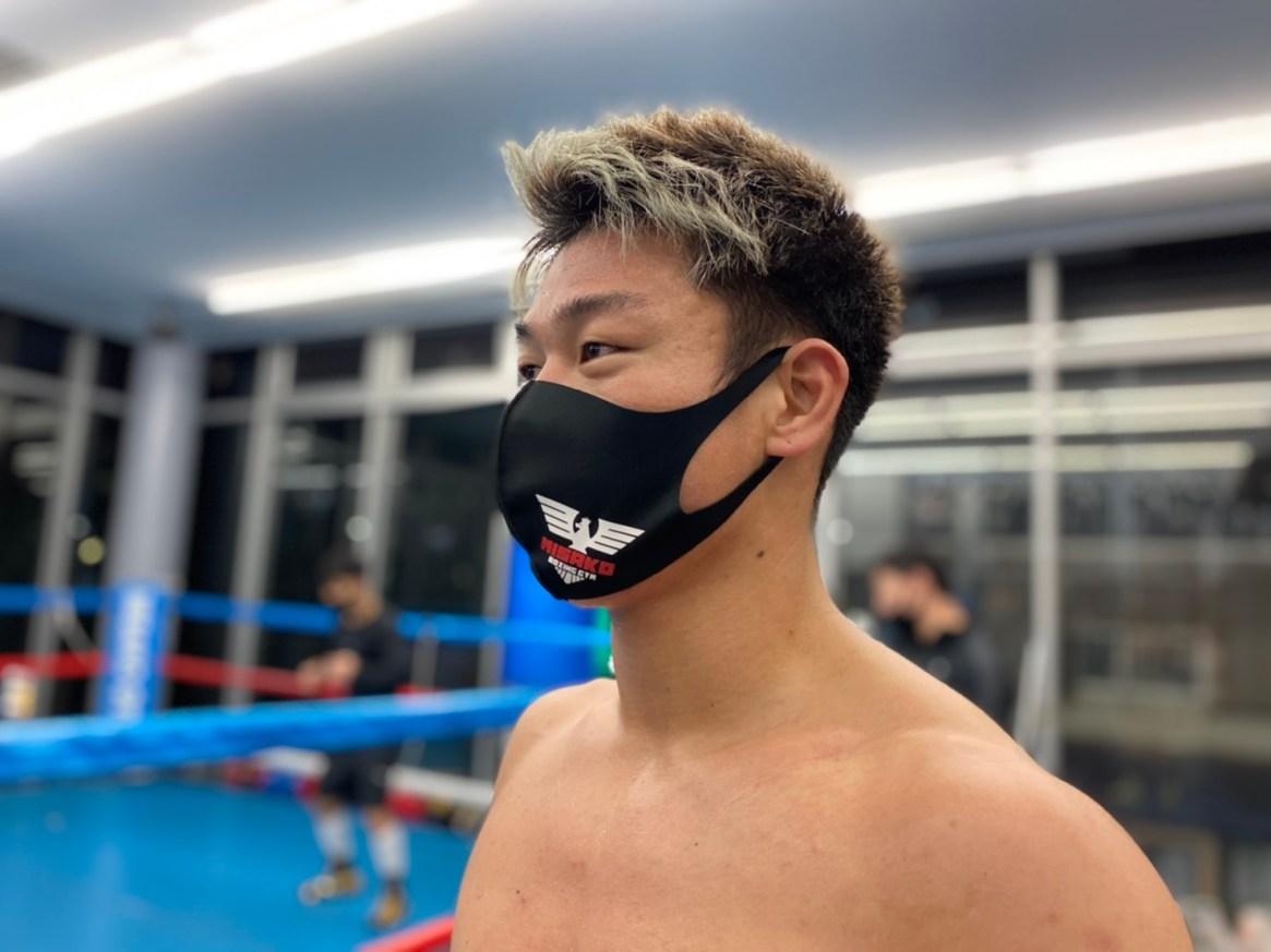 三迫ボクシングジムロゴ入りマスク