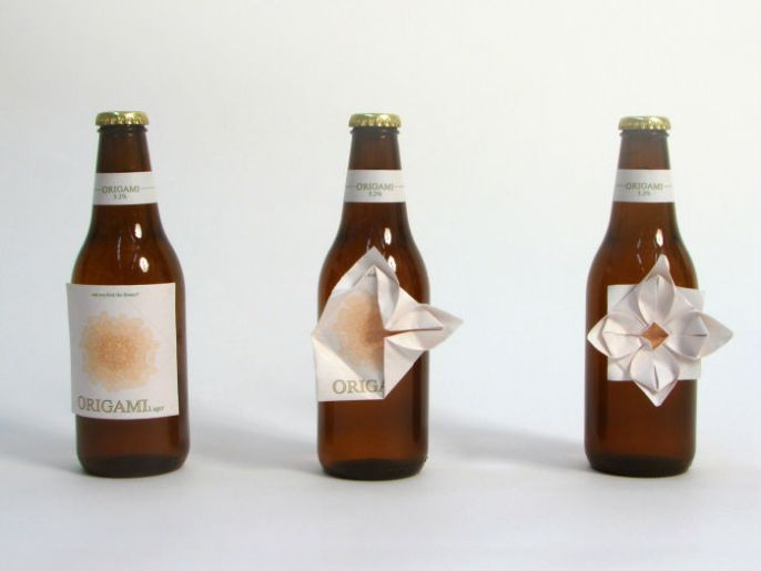 packaging original cerveza japonesa Origami