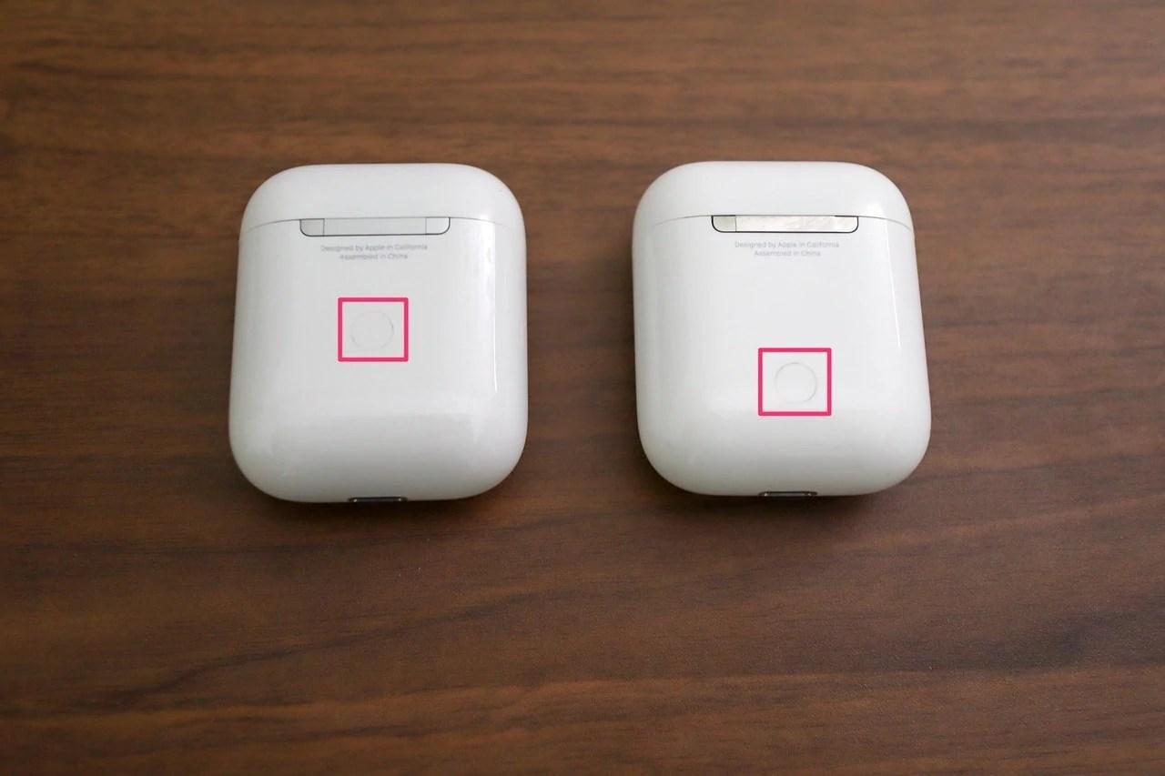 AirPodsの背面セットアップボタン