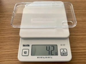 背面ガラスのiPhonexsmaxケース重量