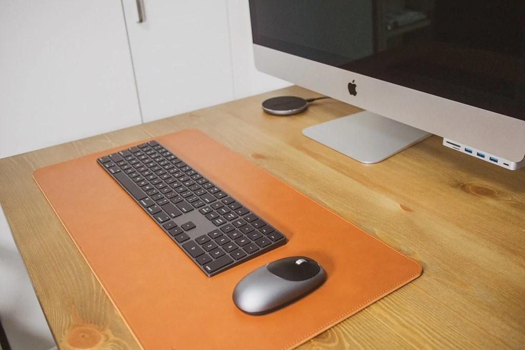 Satechi Ecoレザー デスクメイト デスクマットでデスクが一気におしゃれに