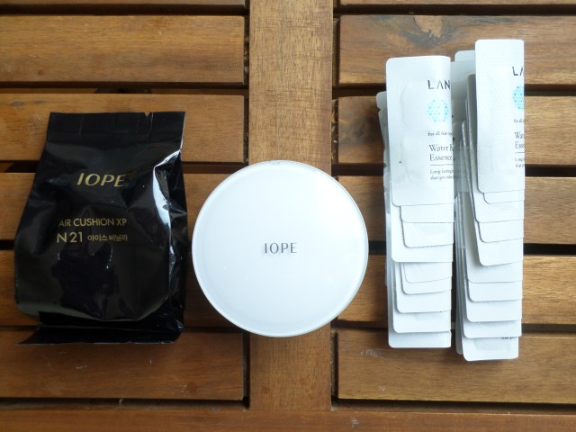 My IOPE Air Cushion XP + refill + 1 million Laneige Water Bank Essence samples
