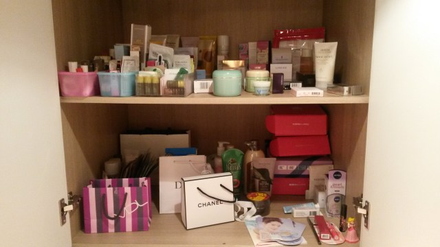 Part of my beauty stash...